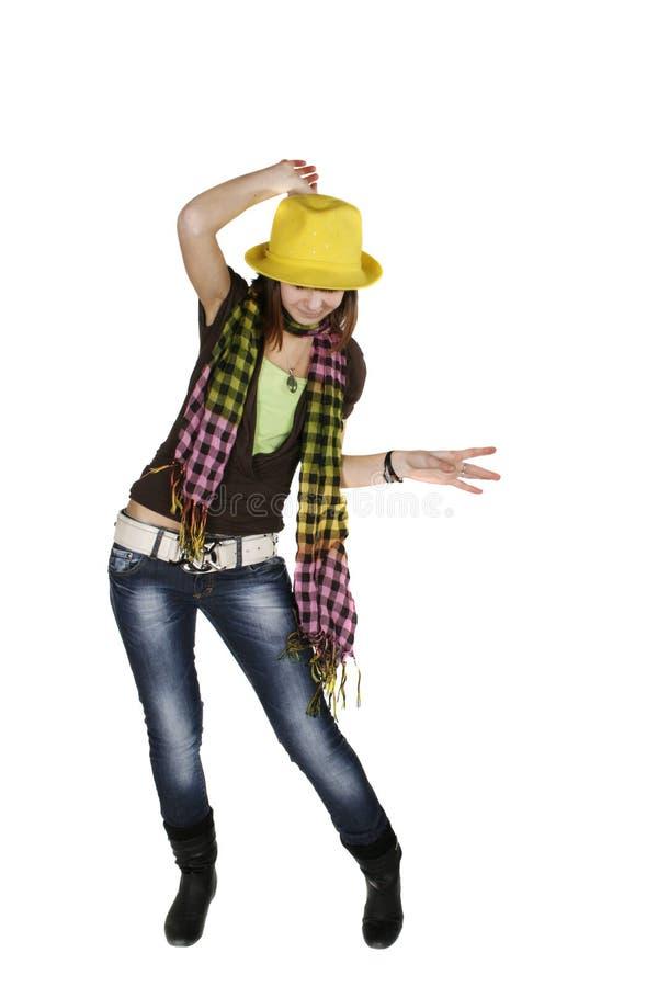 танцуя стильные детеныши женщины стоковое фото