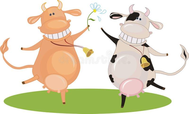 картинка танцующих коров бывает бронзовых