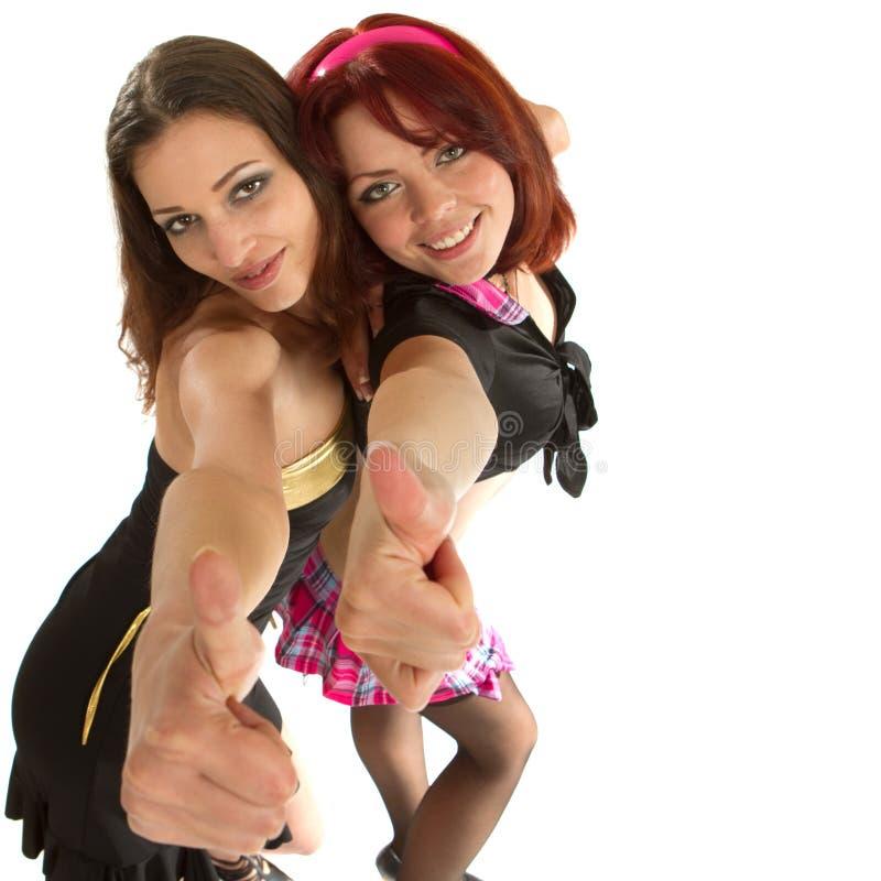 танцы моделирует 2 детенышей стоковое фото rf