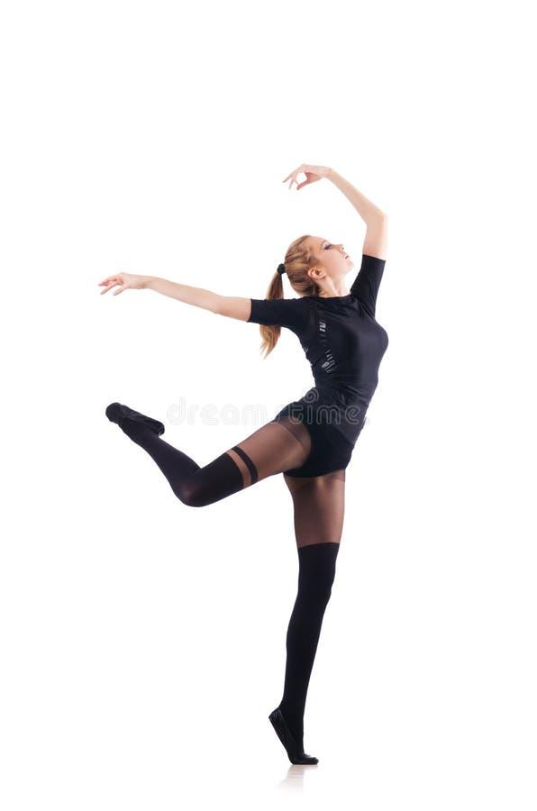 Танцы молодой женщины стоковая фотография rf