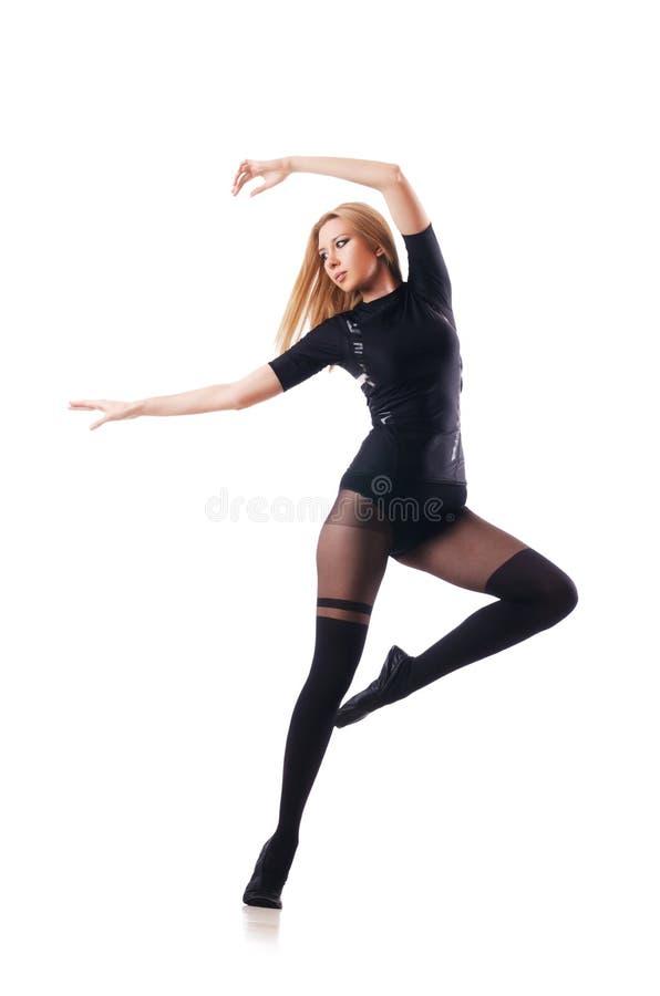 Танцы молодой женщины стоковая фотография