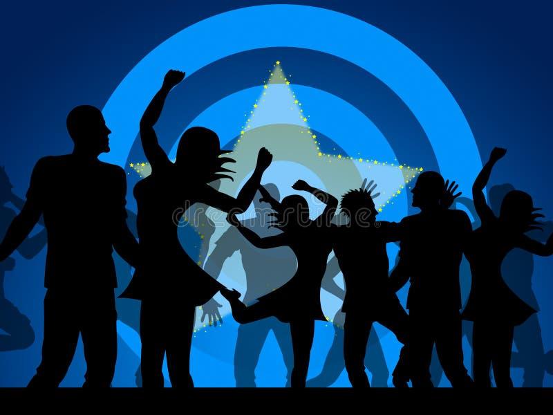 Танцы партии показывают ночной клуб и Discotheque торжества иллюстрация вектора