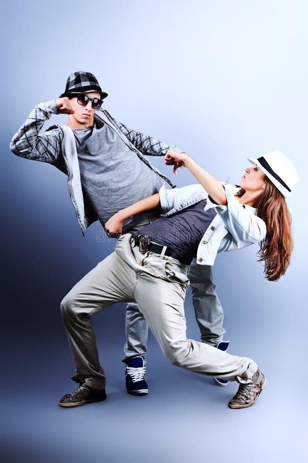 танцы пар стоковое фото