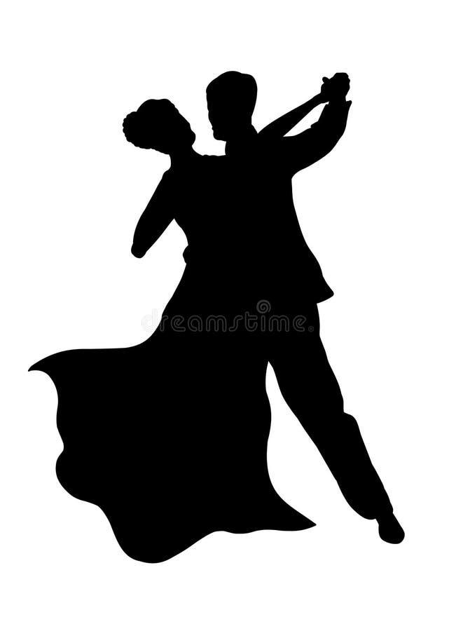 танцы пар иллюстрация вектора