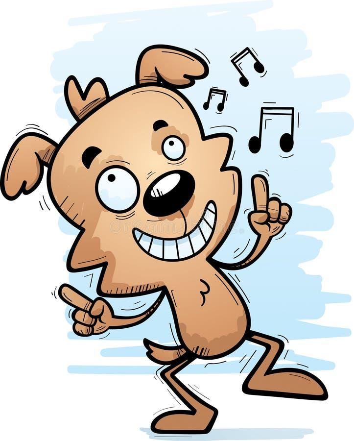 Танцы собаки шаржа мужские иллюстрация вектора