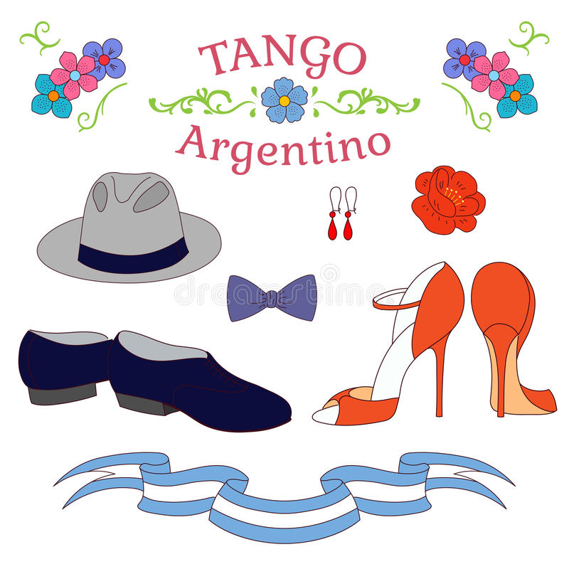 Танцы танго Аргентины обувают плакат бесплатная иллюстрация