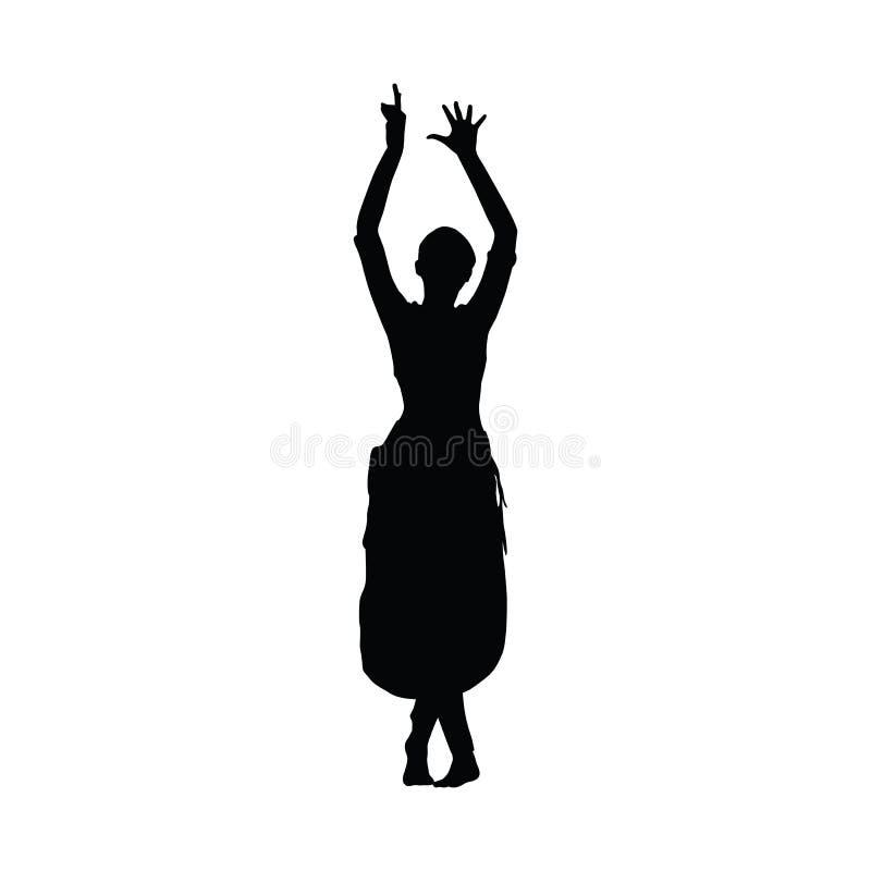 Танцы Шри-Ланки Танцор Канди женщины иллюстрация штока