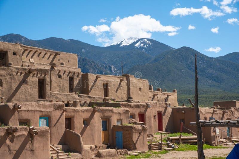 Таос Пуэбло, Таос, Нью-Мексико стоковые фотографии rf