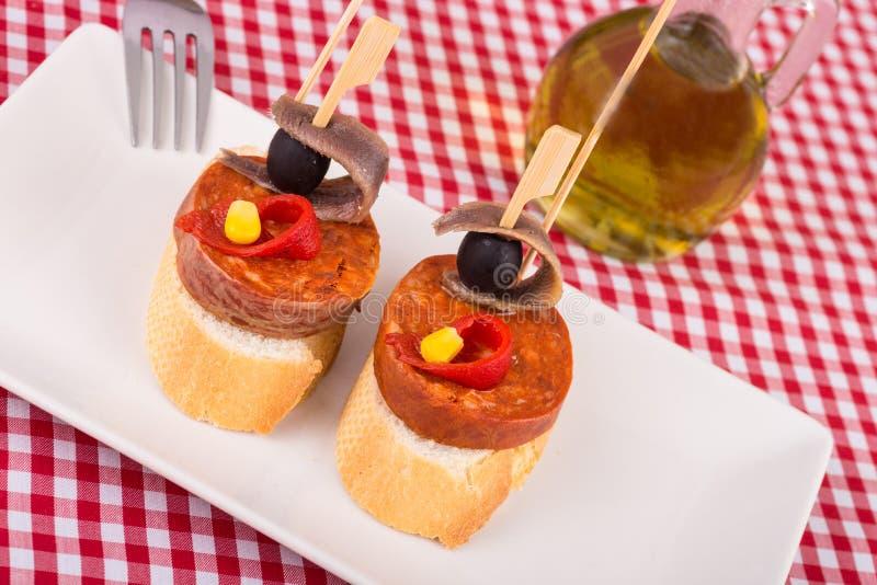 Тапа Chorizo стоковое фото rf
