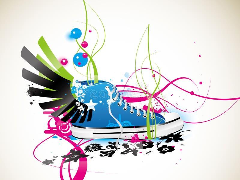 тапки ботинок гимнастики иллюстрация вектора