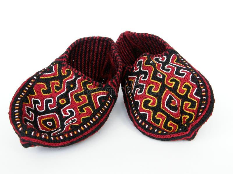 тапочки традиционный turkmen стоковые фотографии rf