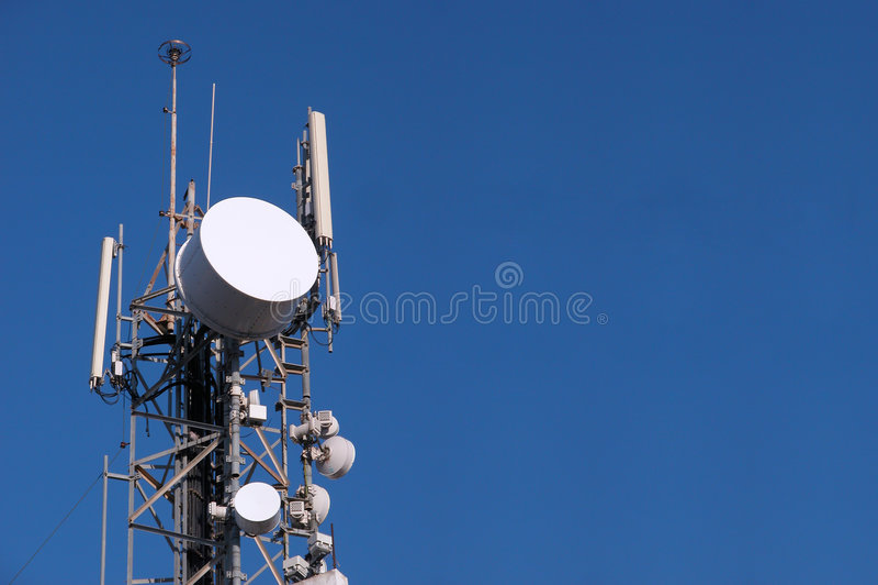 тарелка связи антенны стоковые фотографии rf