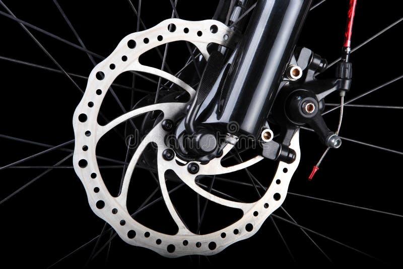 Тарельчатый тормоз велосипеда стоковое фото rf