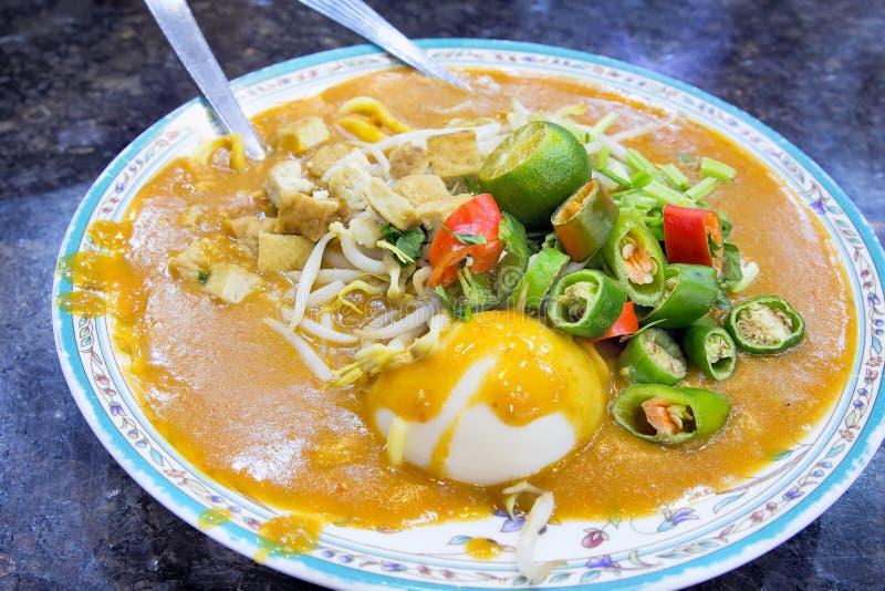 Тарелка Rebus Mee Malay стоковая фотография