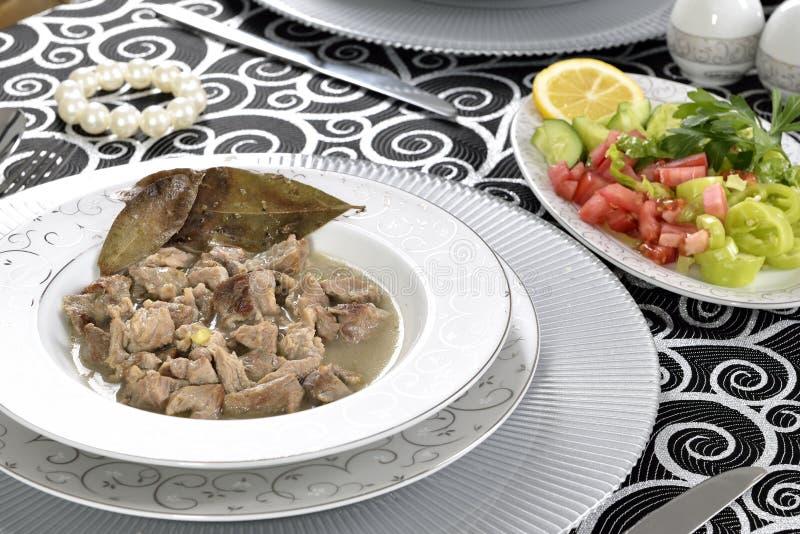 Тарелка мяса стоковая фотография