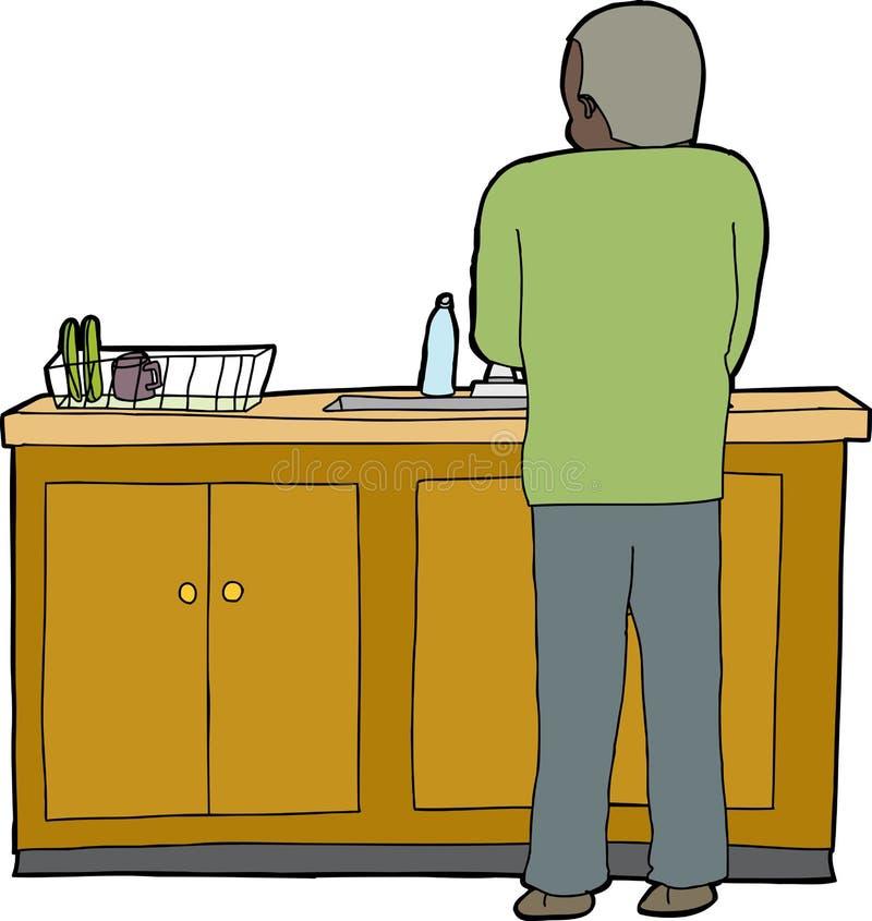тарелки делая человека иллюстрация вектора