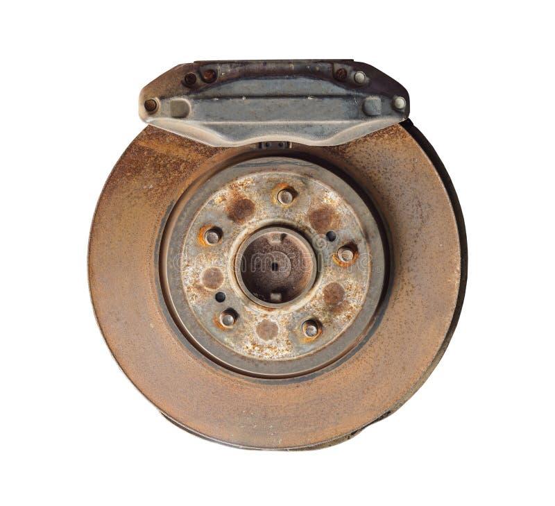 Тарельчатый тормоз и крумциркуль автомобиля стоковое изображение
