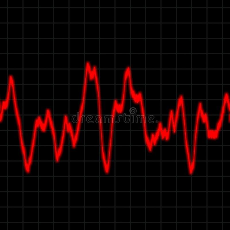 тариф монитора сердца иллюстрация вектора
