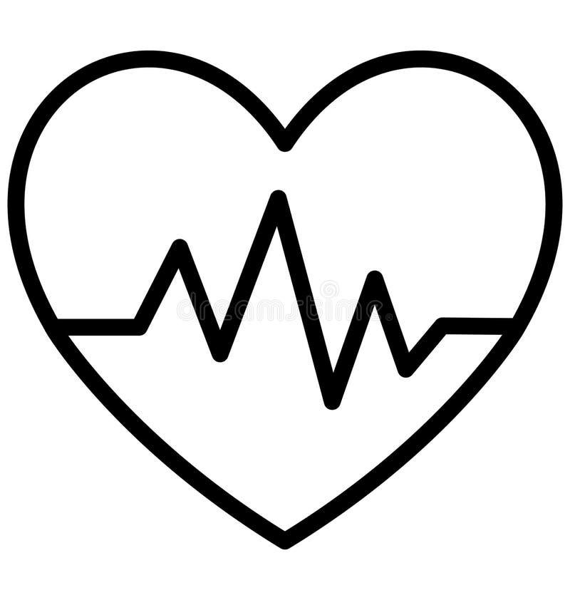 Тариф сердца изолировал значок вектора который может легко доработать или отредактировать иллюстрация вектора