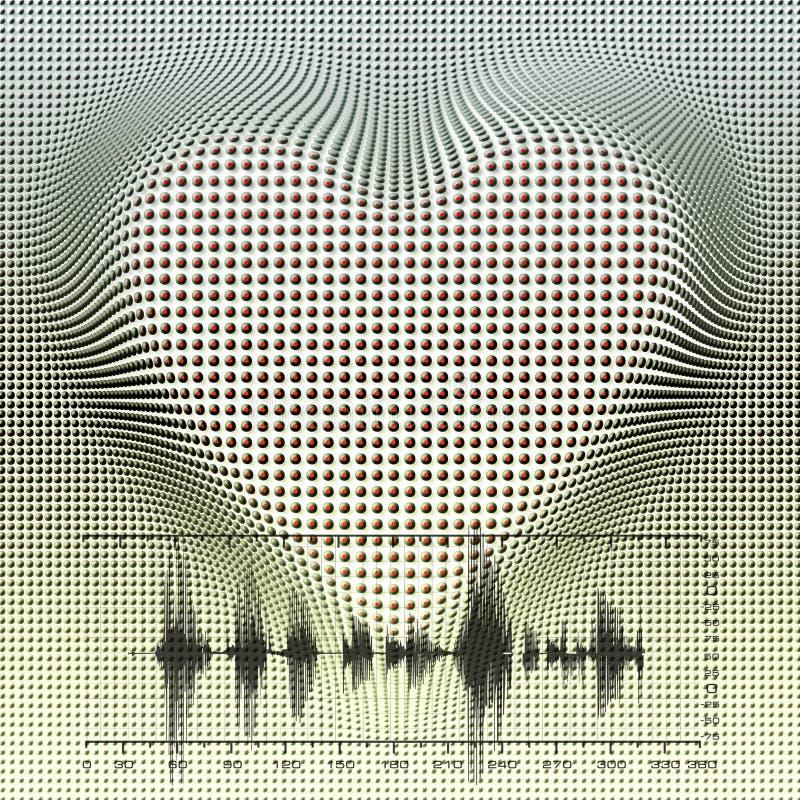 тариф сердца, безшовный tiling иллюстрация штока
