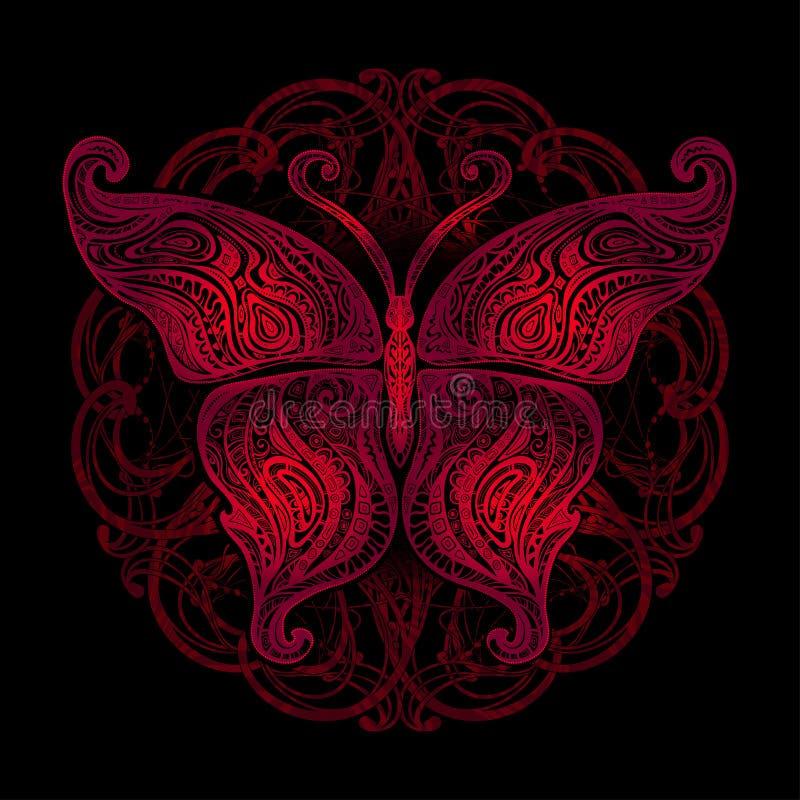 Татуировка бабочки вектора иллюстрация штока