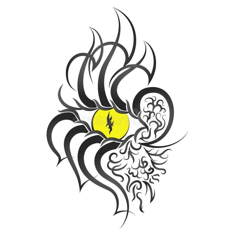 Татуировка картины глаза иллюстрация штока