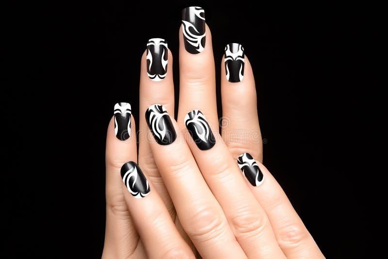 Татуировка ногтя искусства стоковые изображения rf