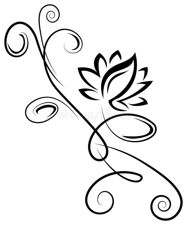 Татуировка лотоса иллюстрация штока