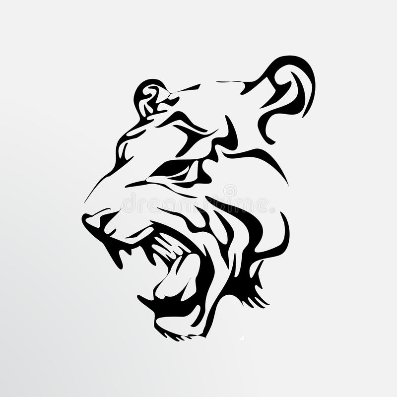 Татуировка тигра иллюстрация штока
