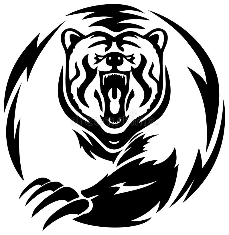 Татуировка Big Bear иллюстрация штока
