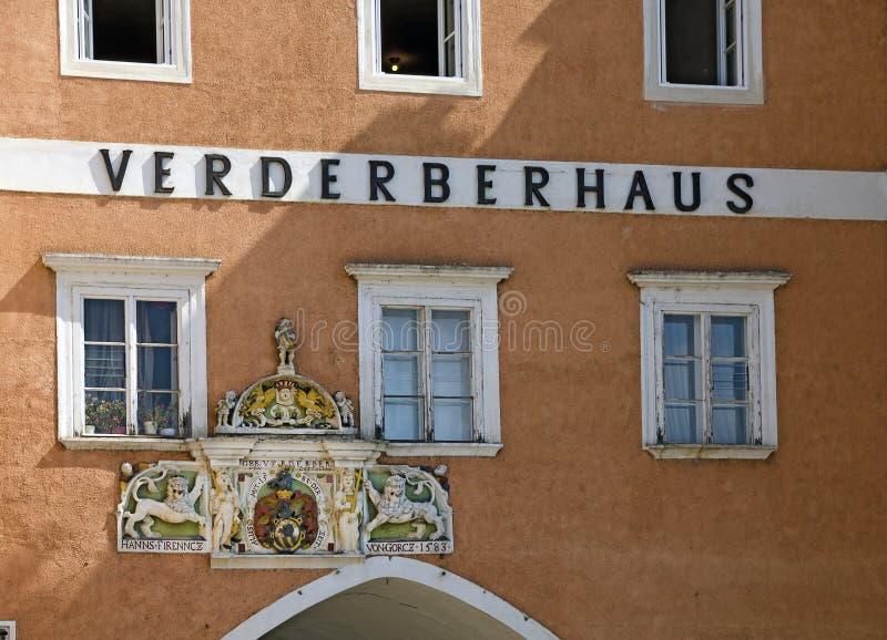 Таунхаус вызвал ` Verderberhaus ` стоковые фотографии rf