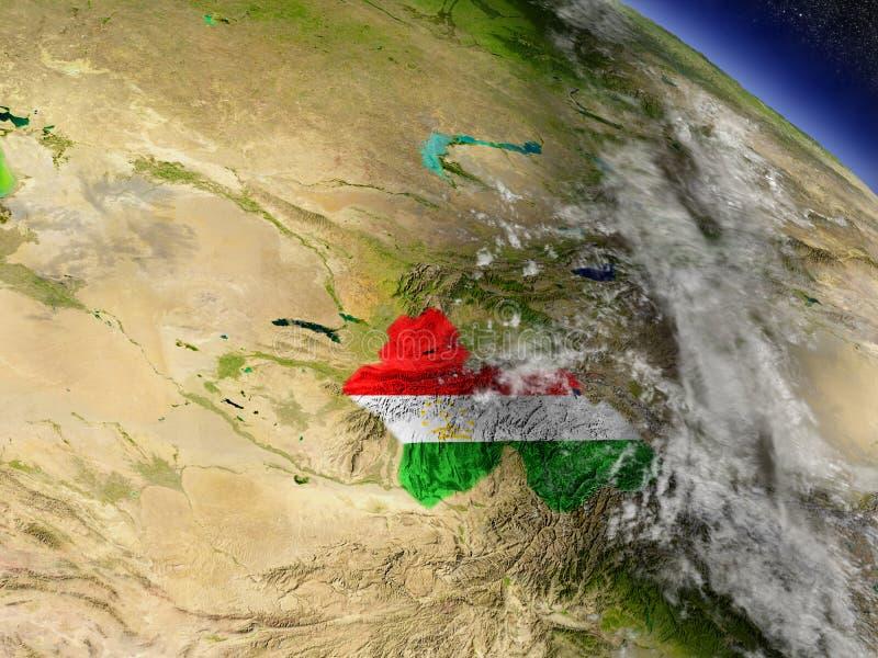 Download Таджикистан с врезанным флагом на земле Иллюстрация штока - иллюстрации насчитывающей astrix, физическо: 81806394