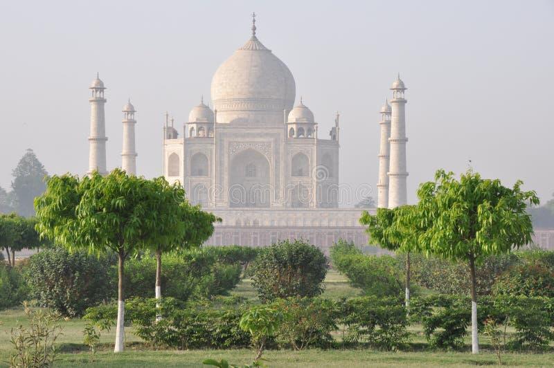 Тадж-Махал, от задней части, Агра Индия стоковые изображения