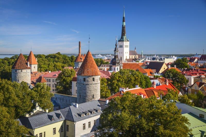 Таллин в дне стоковая фотография rf