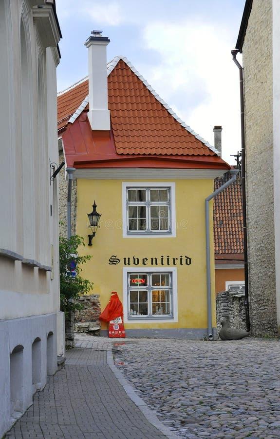 Таллин, 23-ье августа 2014 - городская улица от Таллина в Эстонии стоковое фото