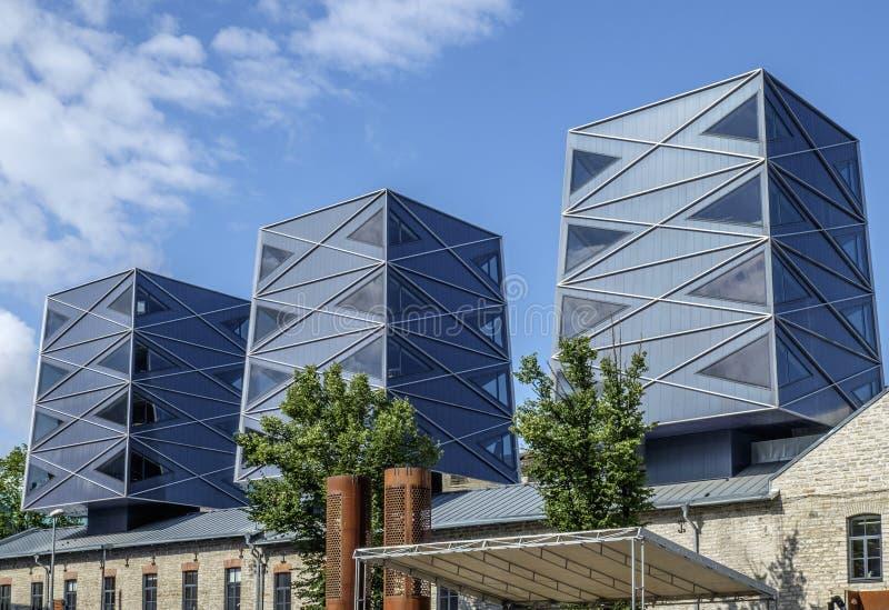 Таллин, Эстония, Европа, район бывшего rotermann промышленный стоковое изображение rf
