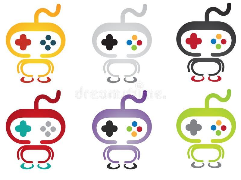Талисман логотипа регулятора игры бесплатная иллюстрация