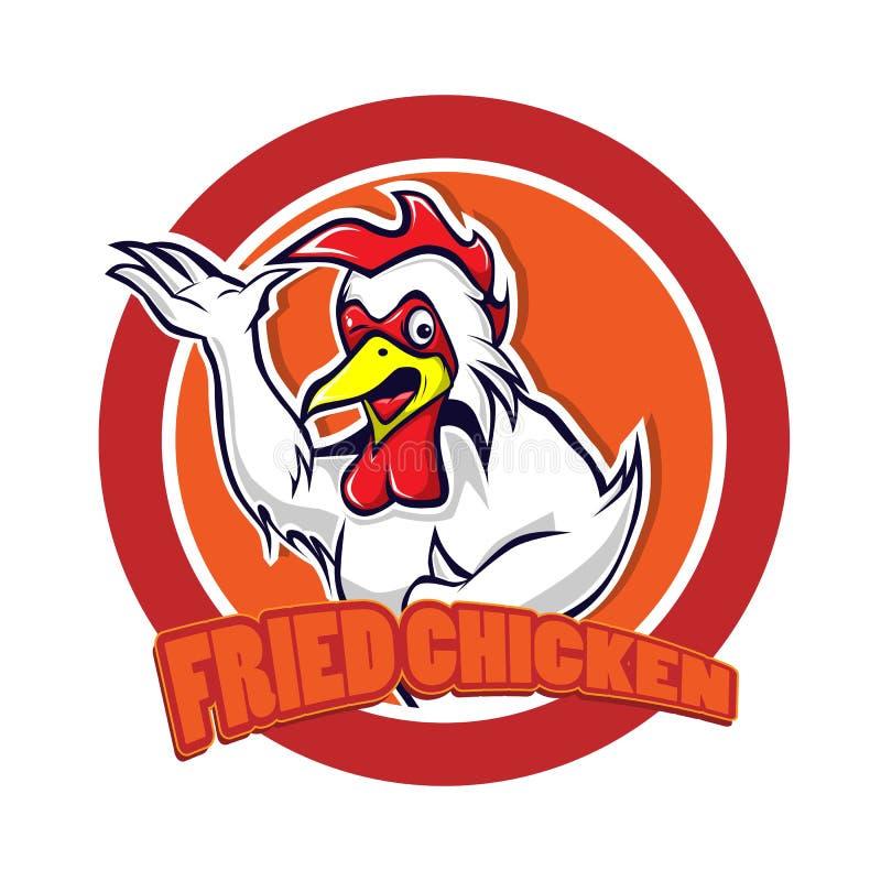 Талисман логотипа цыпленка иллюстрация штока