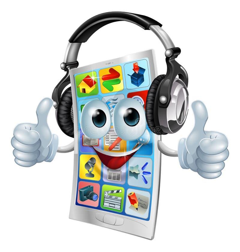 Сотовый телефон app нот иллюстрация штока