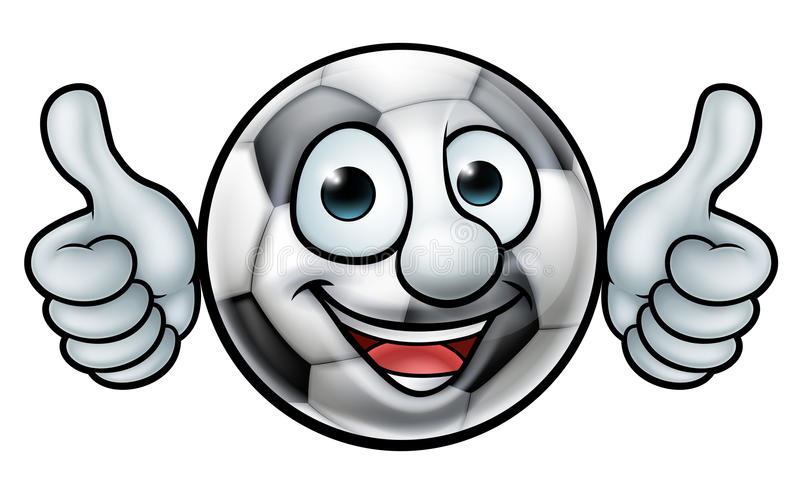 Талисман шарика футбола футбола иллюстрация вектора