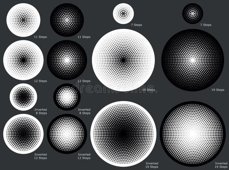 Твердые и поставленные точки радиальные предпосылки градиента в постепенно шагах иллюстрация штока