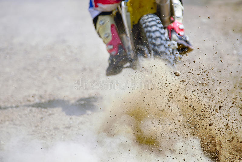 Твердые частицы грязи от гонки motocross стоковая фотография