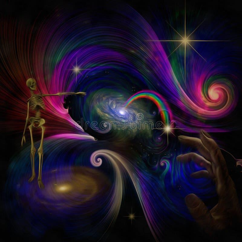 Творение вселенной иллюстрация штока