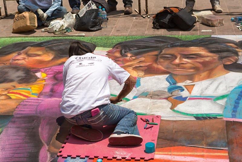 Творение искусства улицы в San Cristobal de Las Casas Мексике стоковые фотографии rf