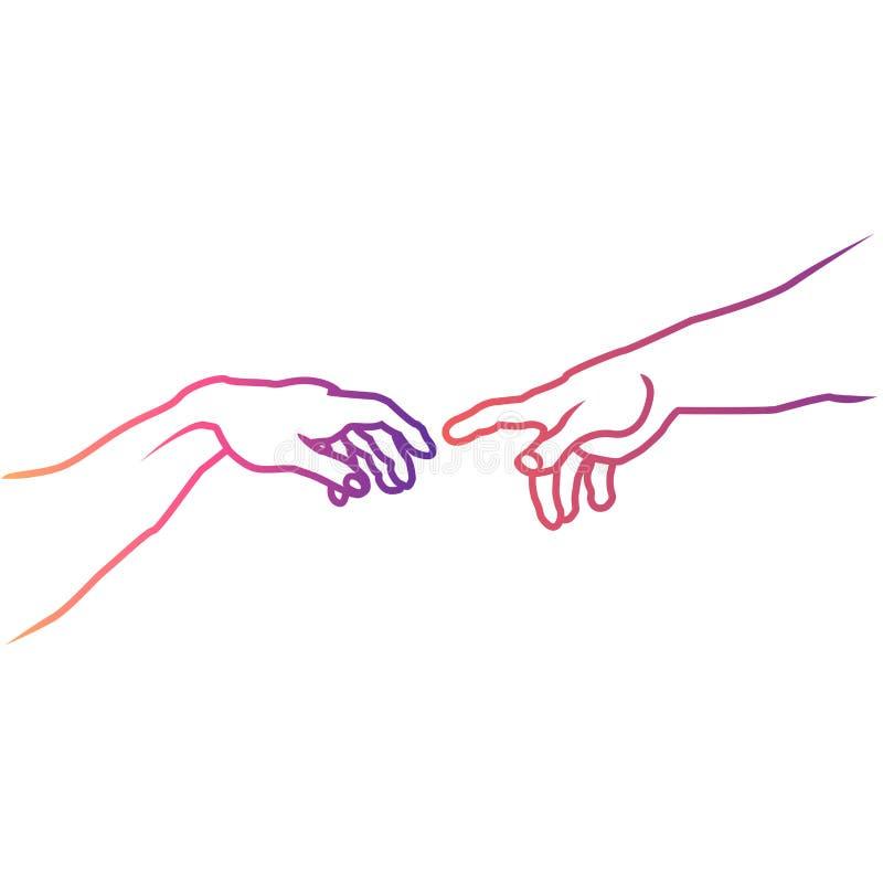 Рисунок две руки тянутся друг к другу, именем каролина