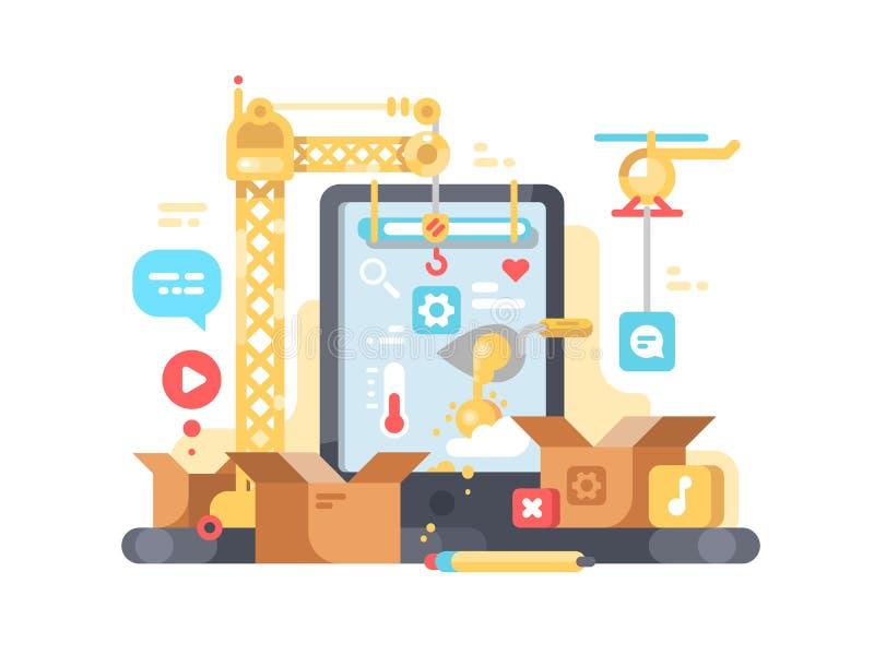 Творение и развитие app бесплатная иллюстрация
