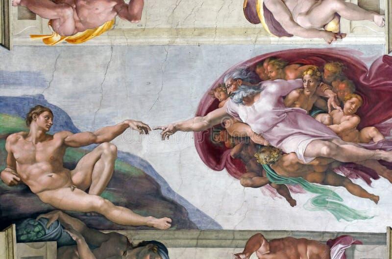 творение adam стоковые изображения