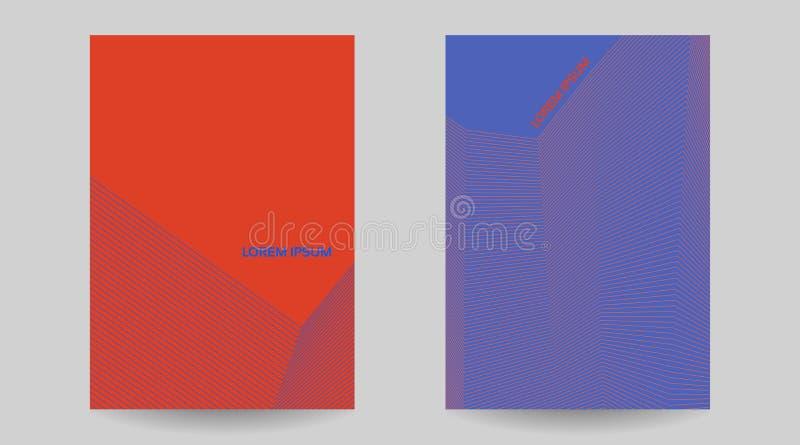 Творческая абстрактная геометрическая текстура для крышки иллюстрация вектора