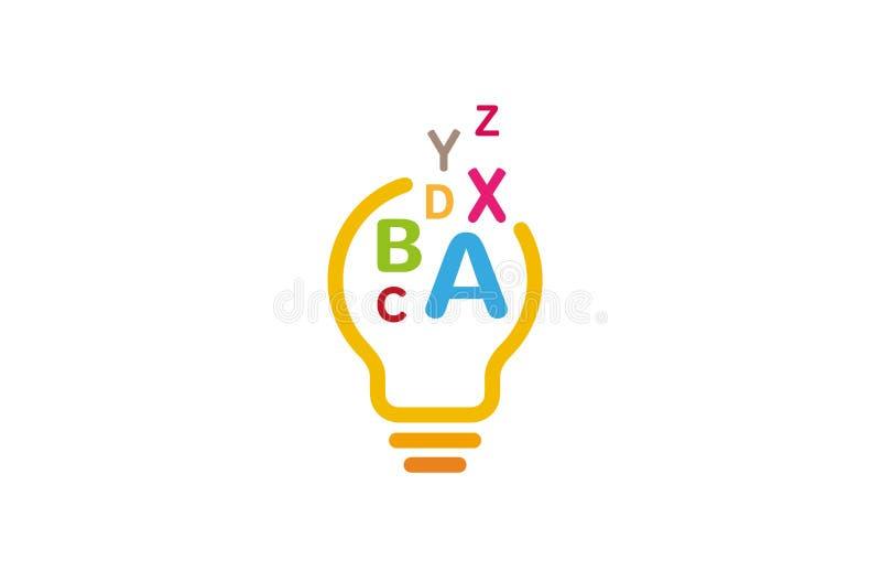 Творческая абстрактная иллюстрация символа вектора дизайна логотипа алфавита шарика бесплатная иллюстрация