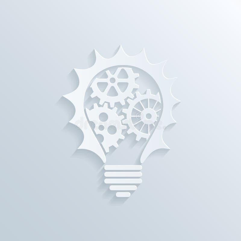 Download Творческая лампочка иллюстрация вектора. иллюстрации насчитывающей machinery - 41659311